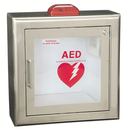 Stainless Steel Aed Wall Cabinet With Strobe Alarm