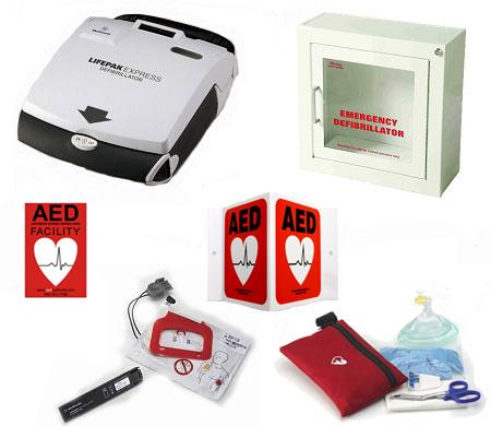 Lifepak 174 Express Small Business Defibrillator Package