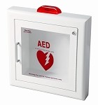 Semi-Recessed AED Cabinet with Strobe Alarm