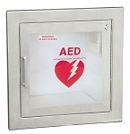 Stainless Steel Recessed AED Wall Cabinet